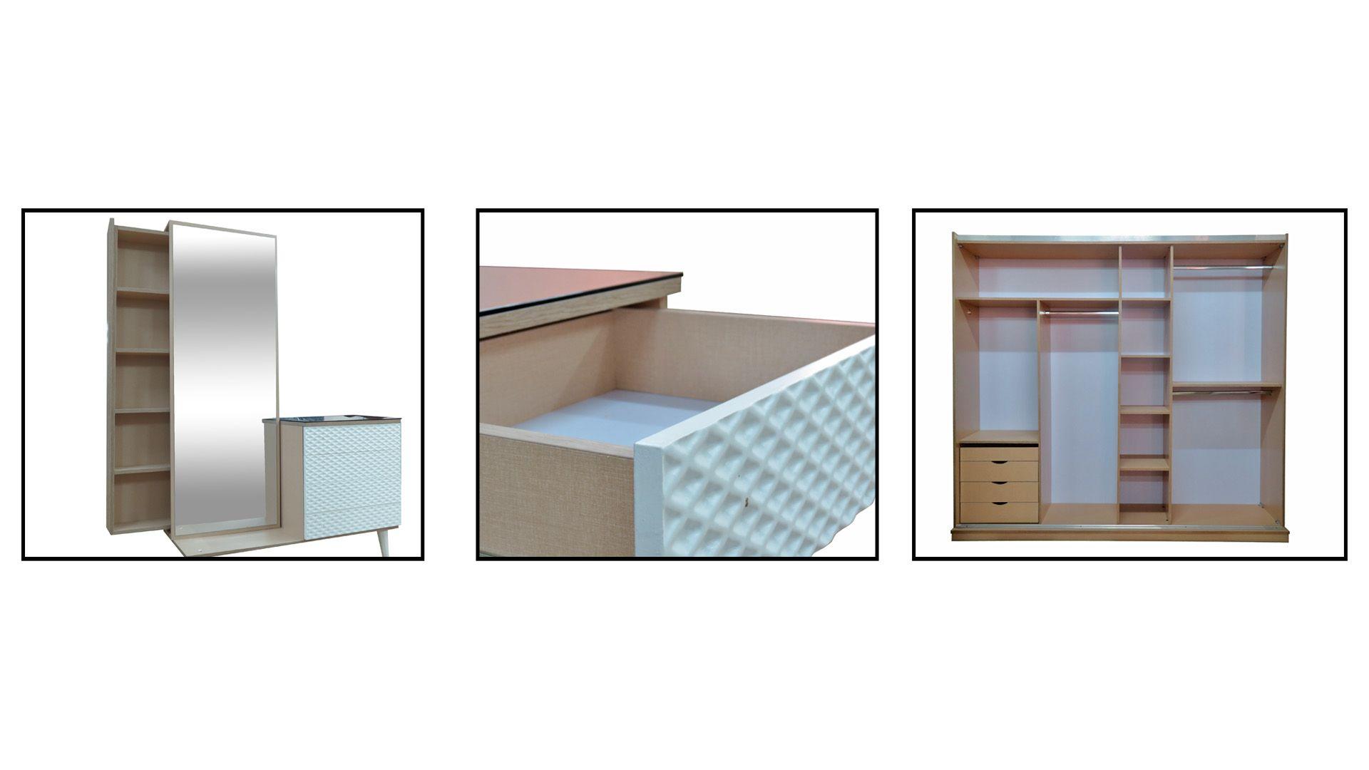 غرف نوم مودرن كاملة بالدولاب والتسريحه 2020